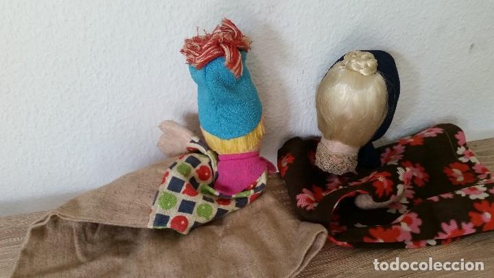 Muñecas Extranjeras: ANTIGUAS MARIONETAS ANOS 30/40 HECHOS A MANO HECHO DE TEGIDO Y PAPEL - Foto 6 - 213538008