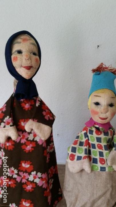 ANTIGUAS MARIONETAS ANOS 30/40 HECHOS A MANO HECHO DE TEGIDO Y PAPEL (Juguetes - Muñeca Extranjera Antigua - Otras Muñecas)