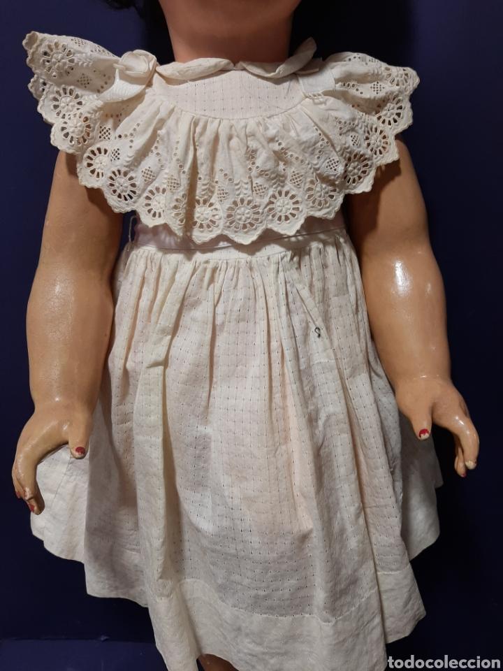 Muñecas Extranjeras: EXTRAORDINARIA Y GRAN MUÑECA ALEMANA DE 90 CM. EMITE SONIDO. MARCAS EN LA NUCA. VER FOTOS. - Foto 8 - 167919696
