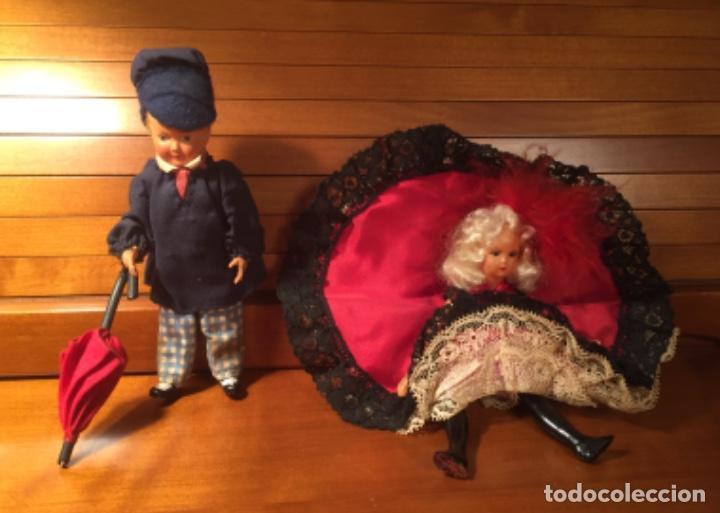 Muñecas Extranjeras: Muñecos pareja franceses Paris can can celuloide - Foto 3 - 169798216