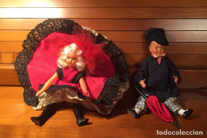 Muñecas Extranjeras: Muñecos pareja franceses Paris can can celuloide - Foto 5 - 169798216