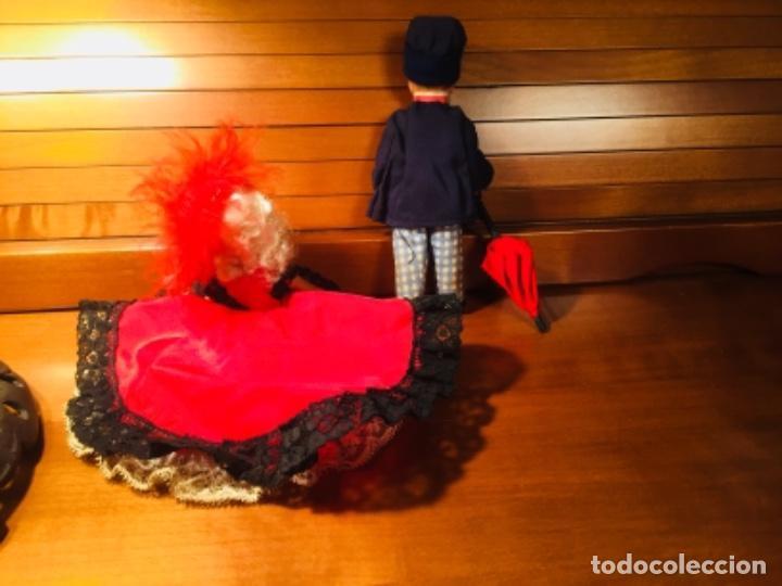 Muñecas Extranjeras: Muñecos pareja franceses Paris can can celuloide - Foto 9 - 169798216