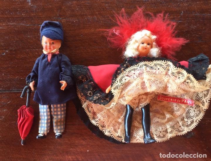 Muñecas Extranjeras: Muñecos pareja franceses Paris can can celuloide - Foto 11 - 169798216