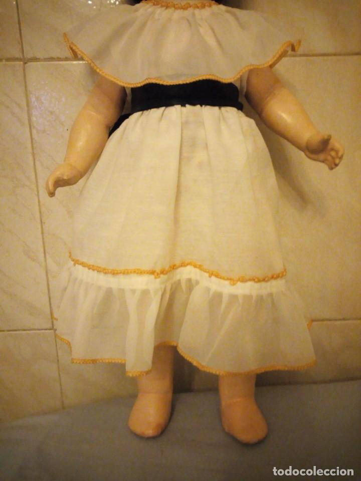 Muñecas Extranjeras: Preciosa muñeca cartón piedra,ojos de cristal durmientes,pelo natural, jne 9 - Foto 2 - 169956874