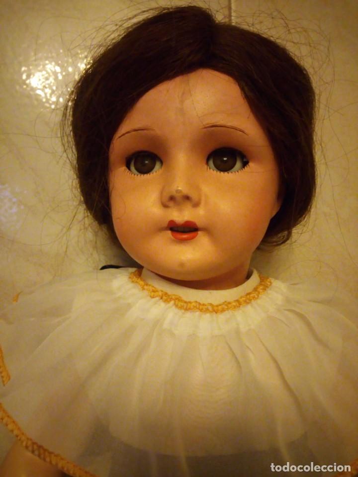 Muñecas Extranjeras: Preciosa muñeca cartón piedra,ojos de cristal durmientes,pelo natural, jne 9 - Foto 3 - 169956874