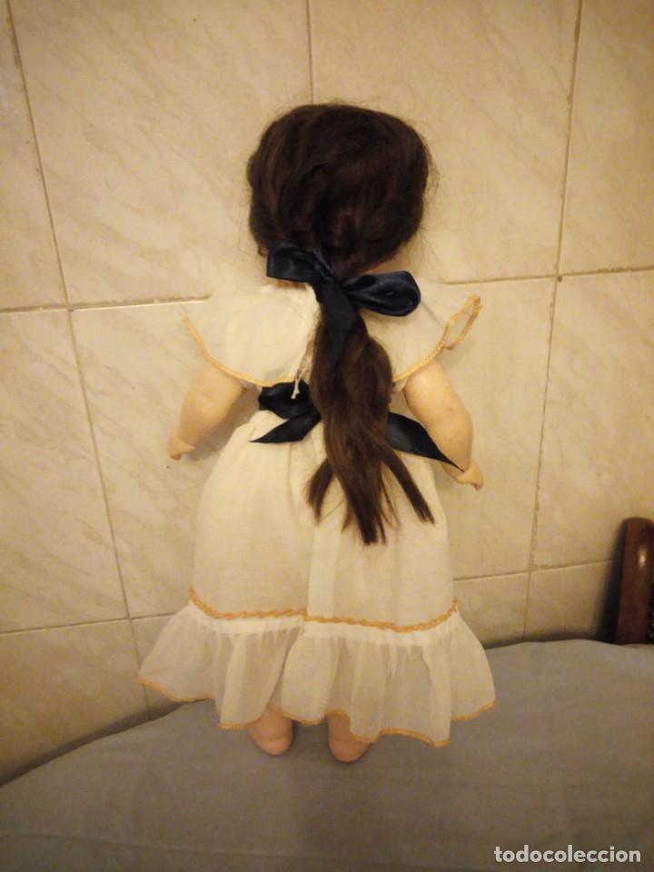 Muñecas Extranjeras: Preciosa muñeca cartón piedra,ojos de cristal durmientes,pelo natural, jne 9 - Foto 4 - 169956874