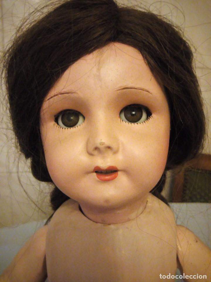 Muñecas Extranjeras: Preciosa muñeca cartón piedra,ojos de cristal durmientes,pelo natural, jne 9 - Foto 9 - 169956874
