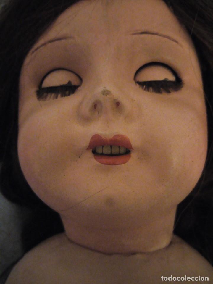 Muñecas Extranjeras: Preciosa muñeca cartón piedra,ojos de cristal durmientes,pelo natural, jne 9 - Foto 10 - 169956874