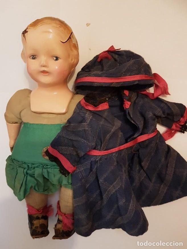 Muñecas Extranjeras: Effanbee Dainty doll Año 1913 - Con 2 trajes originales y pins completos - Foto 2 - 172849282