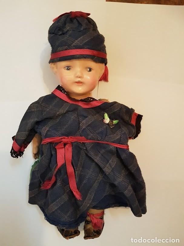 Muñecas Extranjeras: Effanbee Dainty doll Año 1913 - Con 2 trajes originales y pins completos - Foto 3 - 172849282