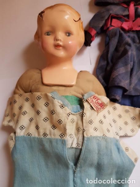 Muñecas Extranjeras: Effanbee Dainty doll Año 1913 - Con 2 trajes originales y pins completos - Foto 4 - 172849282