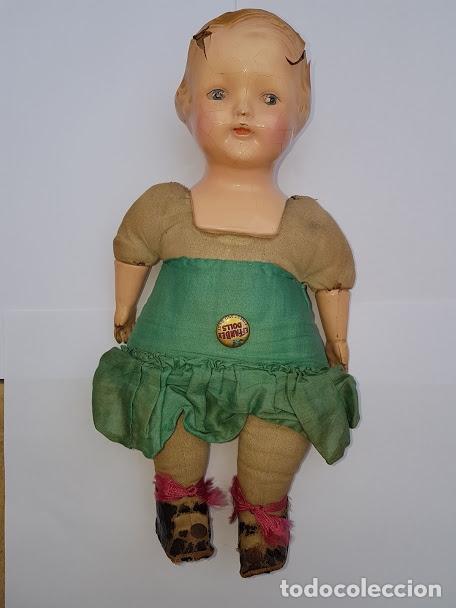 Muñecas Extranjeras: Effanbee Dainty doll Año 1913 - Con 2 trajes originales y pins completos - Foto 9 - 172849282