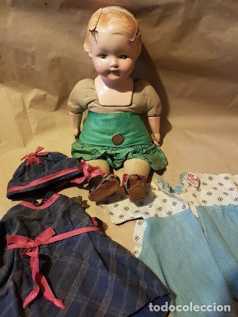 Muñecas Extranjeras: Effanbee Dainty doll Año 1913 - Con 2 trajes originales y pins completos - Foto 13 - 172849282