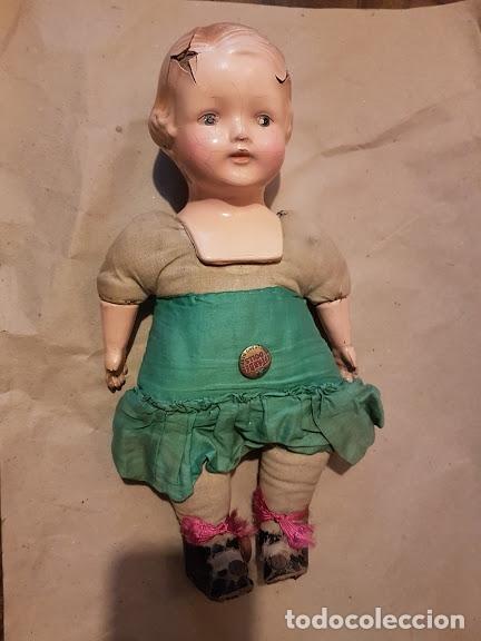 Muñecas Extranjeras: Effanbee Dainty doll Año 1913 - Con 2 trajes originales y pins completos - Foto 14 - 172849282