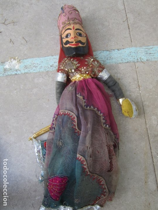 MARIONETA DE INDIA DE MADERA, HECHA A MANO (Juguetes - Muñeca Extranjera Antigua - Otras Muñecas)