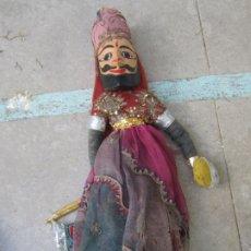 Muñecas Extranjeras: MARIONETA DE INDIA DE MADERA, HECHA A MANO. Lote 173630849