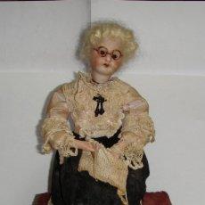 Muñecas Extranjeras: MUÑECA AUTÓMATA CON CABEZA DE BISCUIT. HILANDERA.. Lote 175590305