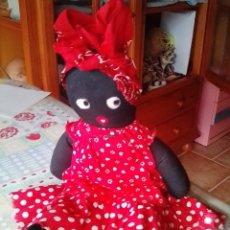 Muñecas Extranjeras: MUÑECA MAMY NEGRA, MUÑECO RELLENO DE TELA, FELPA OJOS, AÑOS 50. Lote 178262945