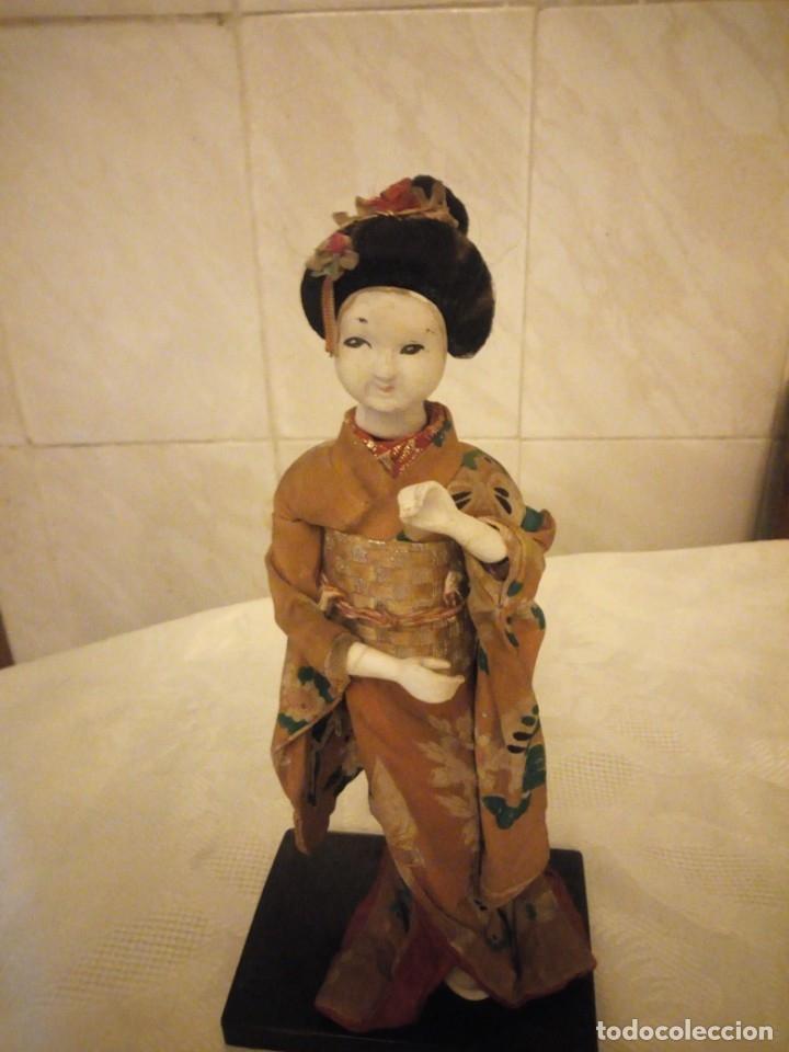 Muñecas Extranjeras: MUÑECA GEISHA MADE IN JAPAN PRINCIPIOS DE SIGLO XX,pastas,madera,tejido y pelo de moahir - Foto 2 - 182033010