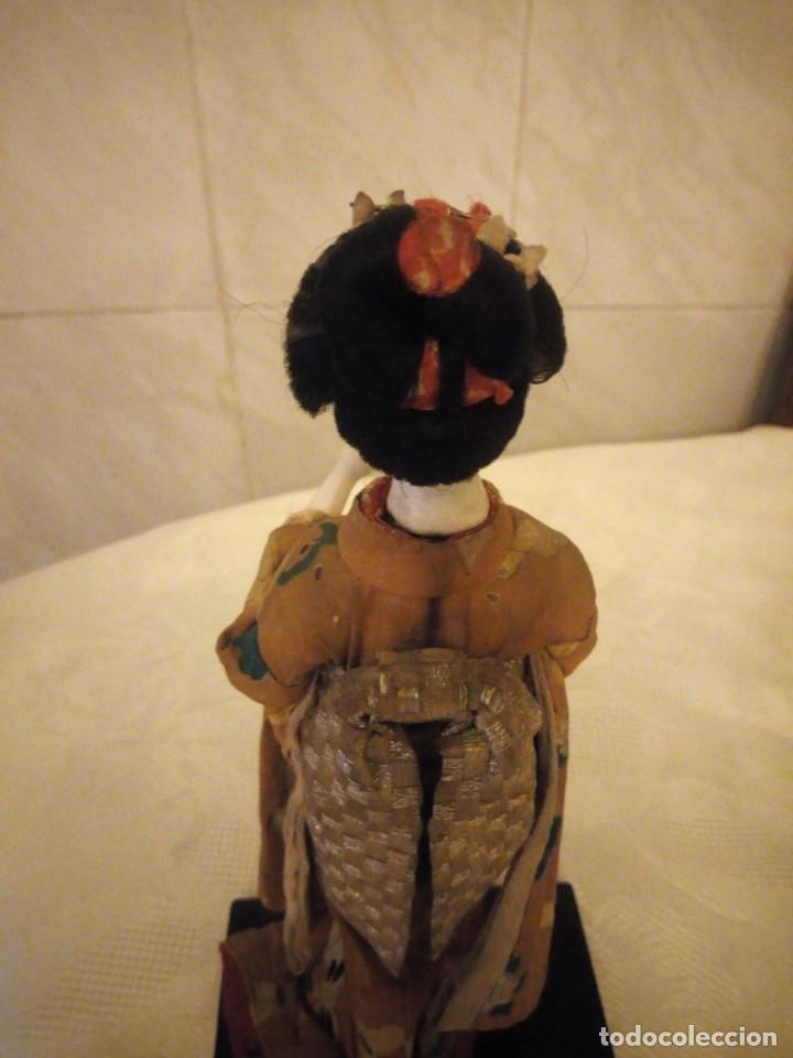Muñecas Extranjeras: MUÑECA GEISHA MADE IN JAPAN PRINCIPIOS DE SIGLO XX,pastas,madera,tejido y pelo de moahir - Foto 5 - 182033010