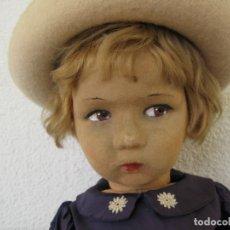 Muñecas Extranjeras: ORIGINAL ANTIGUA MUÑECA RAYNAL 51 CM. 1930 FRANCESA TIPO LENCI. Lote 182045965