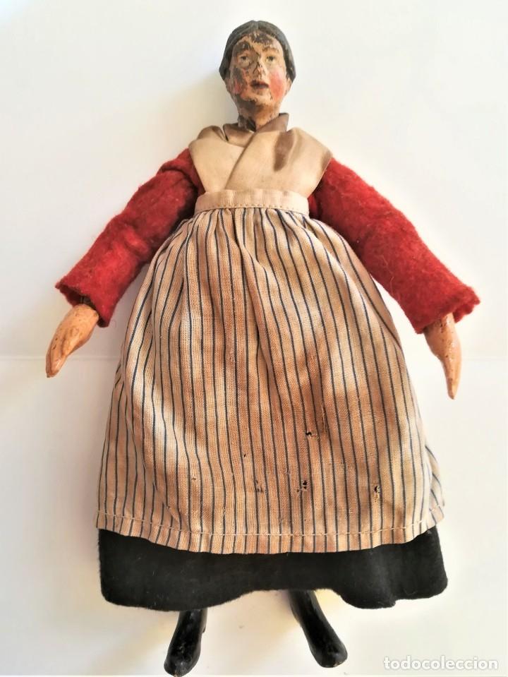 Muñecas Extranjeras: ANTIGUA MUÑECA SUIZA,AÑO 1920,ARTICULADA,CUERPO METALICO Y CERAMICA,SABA BUCHERER,EL PRIMER MADELMAN - Foto 2 - 182254080