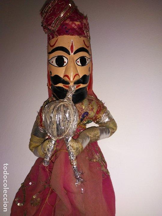 Muñecas Extranjeras: Antigua marioneta Hindú de 68 cm - Foto 2 - 183004201
