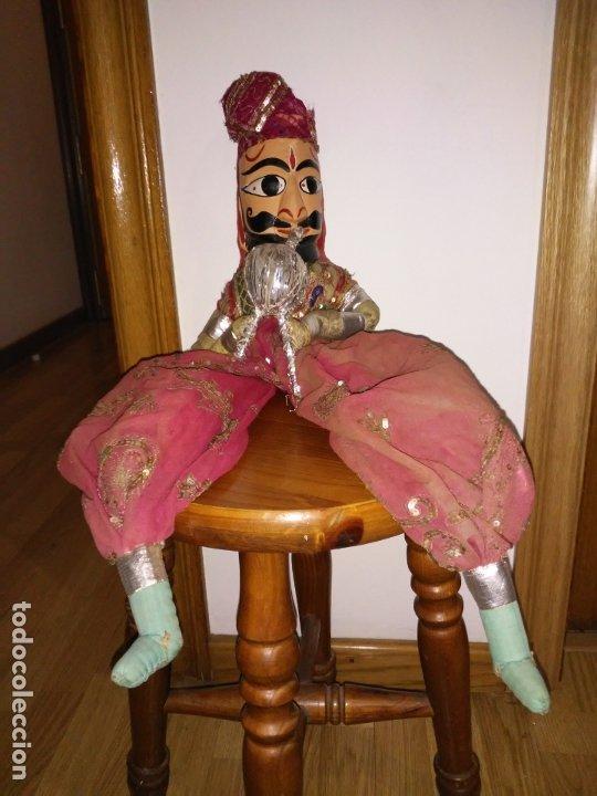 Muñecas Extranjeras: Antigua marioneta Hindú de 68 cm - Foto 5 - 183004201