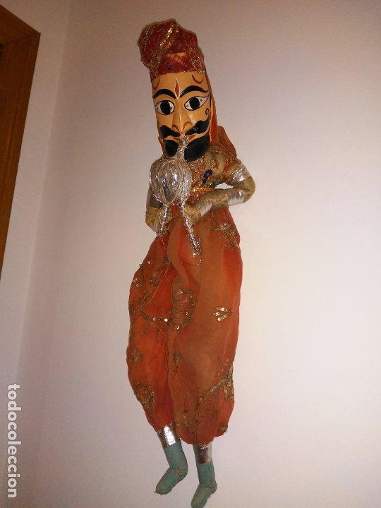 ANTIGUA MARIONETA HINDÚ DE 68 CM (Juguetes - Muñeca Extranjera Antigua - Otras Muñecas)