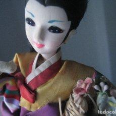 Muñecas Extranjeras: MUÑECA EN TRAPO Y TELA PINTADA - MADE IN KOREA. Lote 183220548