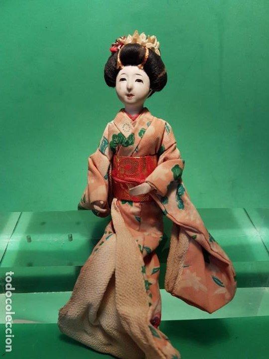 ANTIGUA MUÑECA JAPONESA EN COMPOSICION DE MEDIADOS SG.XX. (Juguetes - Muñeca Extranjera Antigua - Otras Muñecas)