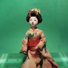 Muñecas Extranjeras: ANTIGUA MUÑECA JAPONESA EN COMPOSICION DE MEDIADOS SG.XX.. Lote 199988815