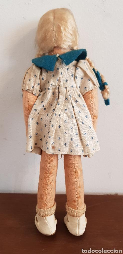 Muñecas Extranjeras: Preciosa muñeca de fieltro tipo Lenci 23 cm - Foto 2 - 186133098
