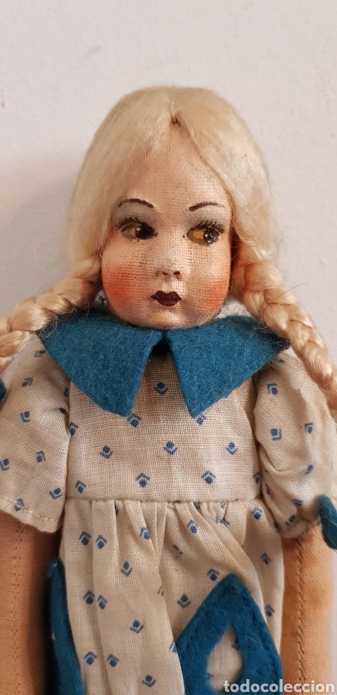 Muñecas Extranjeras: Preciosa muñeca de fieltro tipo Lenci 23 cm - Foto 3 - 186133098