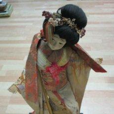 Muñecas Extranjeras: ANTIGUA MUÑECA JAPONESA GRANDE, FIGURA DECO ASIÁTICA, GEISHA, MUJER CON KIMONO, CA. 64 CM H. Lote 188608168