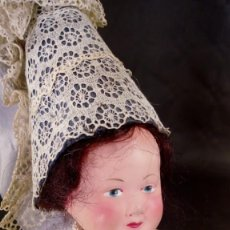 Muñecas Extranjeras: MUÑECA DE CELULOIDE PETITCOLLIN. OJOS PINTADOS. ARTESANAL. FRANCIA. AÑOS 50.. Lote 190143020