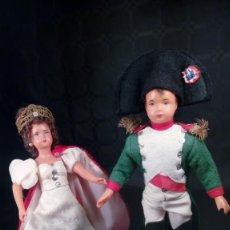 Muñecas Extranjeras: NAPOLEÓN BONAPARTE Y JOSEFINA. MUÑECOS CELULOIDE. OJOS PINTADOS. ARTESANALES. TIPO PETITCOLLIN.. Lote 190144665