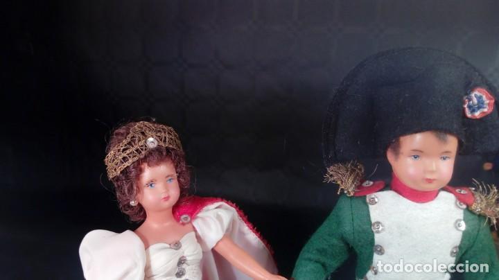 Muñecas Extranjeras: NAPOLEÓN BONAPARTE Y JOSEFINA. MUÑECOS CELULOIDE. OJOS PINTADOS. ARTESANALES. TIPO PETITCOLLIN. - Foto 2 - 190144665