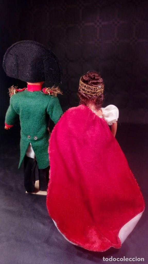Muñecas Extranjeras: NAPOLEÓN BONAPARTE Y JOSEFINA. MUÑECOS CELULOIDE. OJOS PINTADOS. ARTESANALES. TIPO PETITCOLLIN. - Foto 5 - 190144665