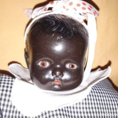 Muñecas Extranjeras: MUÑECA NEGRITA CON OJOS DE VIDRIO. Lote 191438440