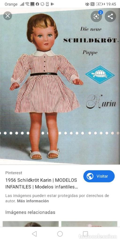 Muñecas Extranjeras: Muñeca Karin marca tortuga año 56 de 53cm - Foto 8 - 192342248
