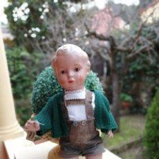 Muñecas Extranjeras: MUÑECO ALEMAN HANS SCHILKDROT TORTUGA TODO DE ORIGEN 42 CM. Lote 192613165