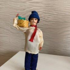 Muñecas Extranjeras: MUÑECO ANTIGUO. PLÁSTICO Y FIELTRO. 19 CM. Lote 193549302