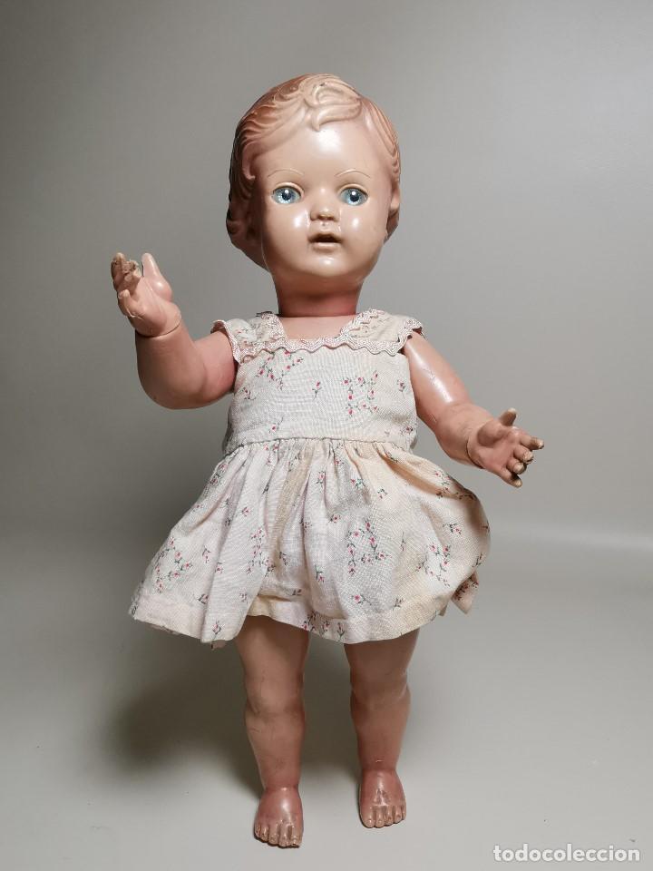 Muñecas Extranjeras: antigua muñeca de plastico años 50 marca kader made in hong kong--32 cm -muy jugada - Foto 2 - 193741127