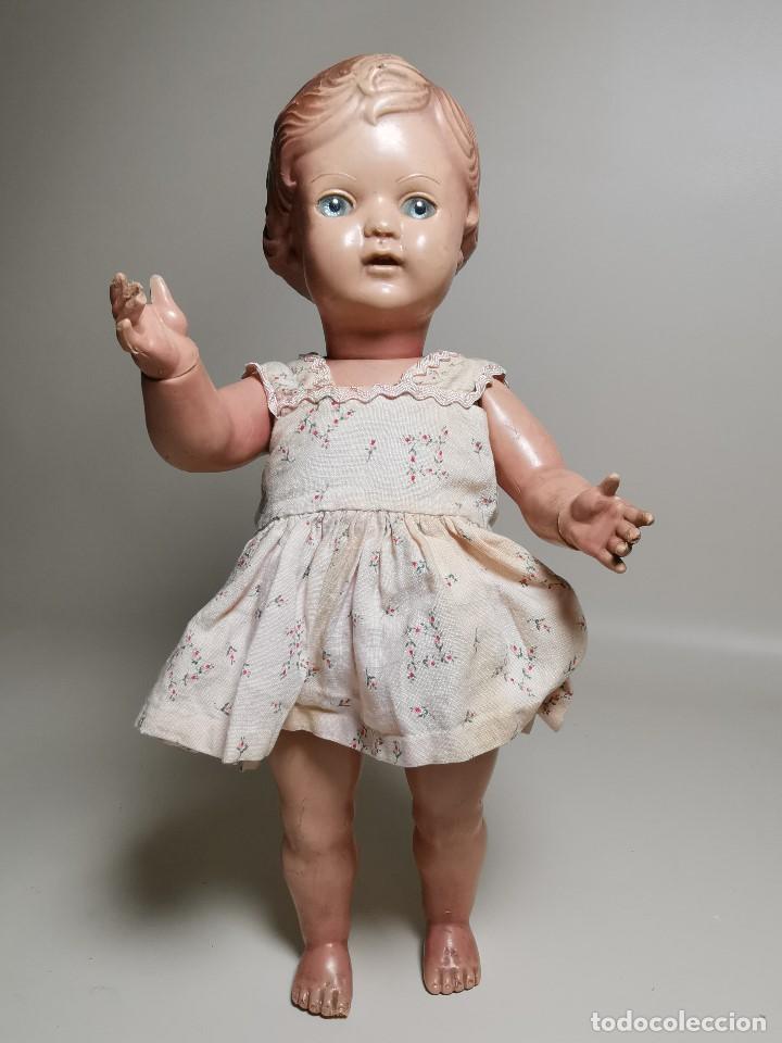 Muñecas Extranjeras: antigua muñeca de plastico años 50 marca kader made in hong kong--32 cm -muy jugada - Foto 3 - 193741127