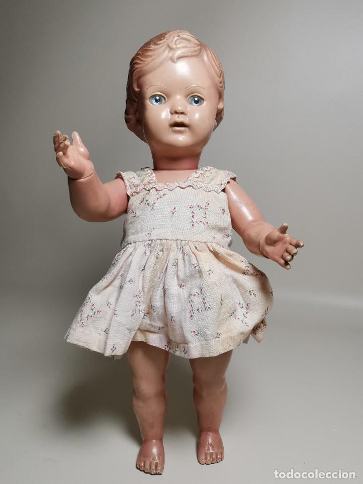 Muñecas Extranjeras: antigua muñeca de plastico años 50 marca kader made in hong kong--32 cm -muy jugada - Foto 4 - 193741127