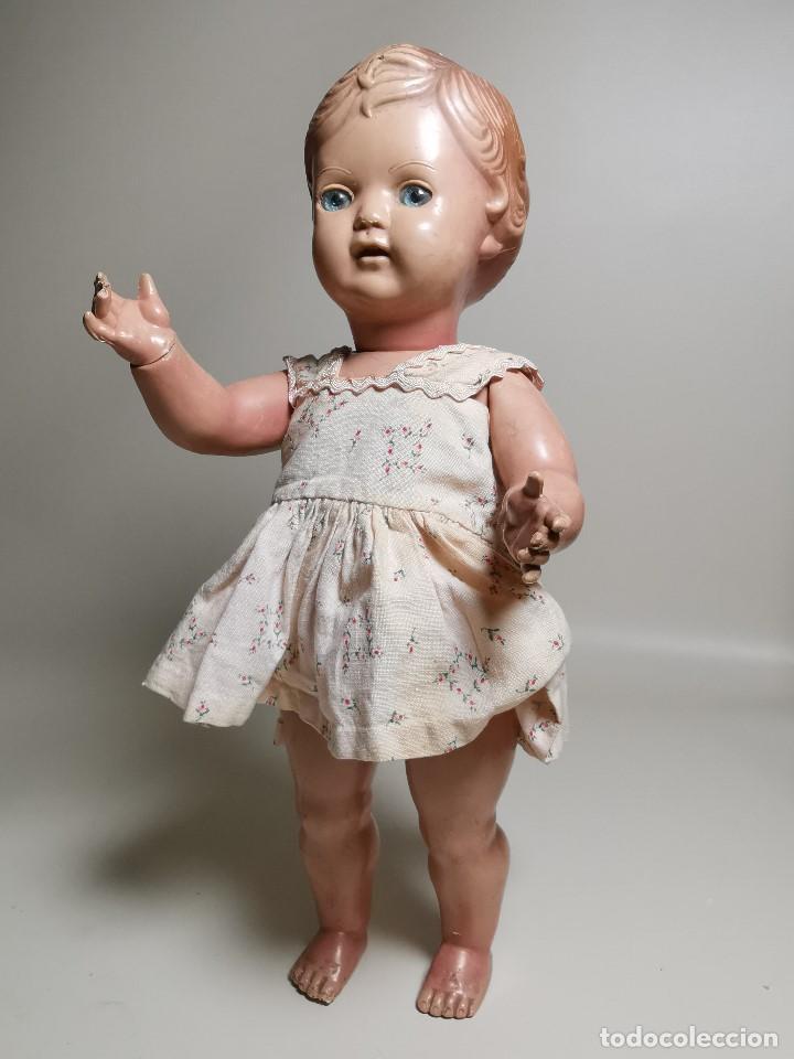 Muñecas Extranjeras: antigua muñeca de plastico años 50 marca kader made in hong kong--32 cm -muy jugada - Foto 5 - 193741127