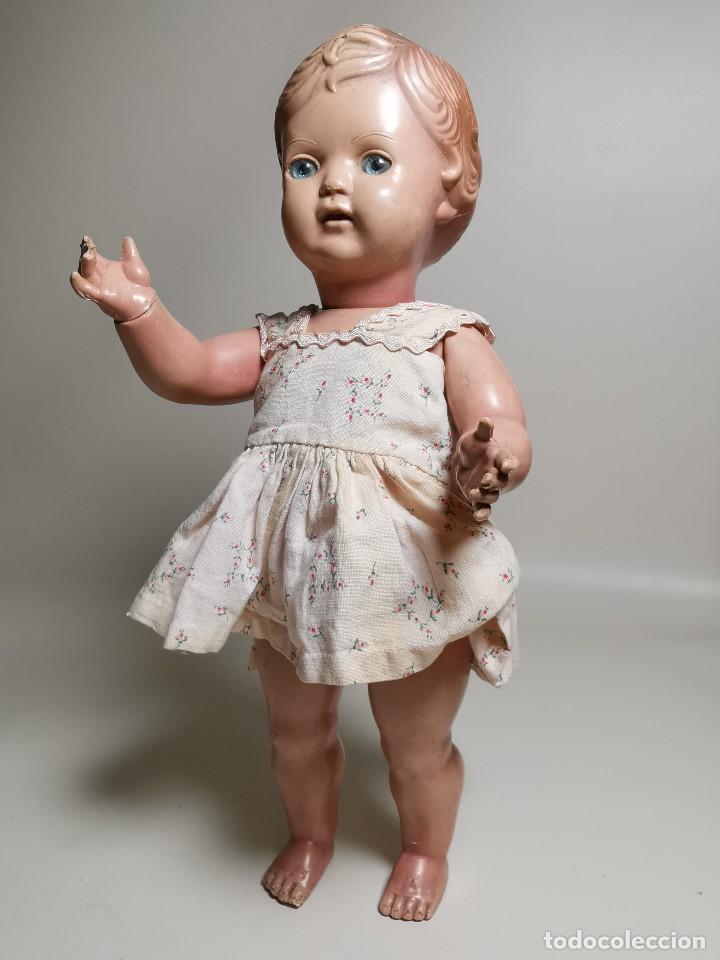 Muñecas Extranjeras: antigua muñeca de plastico años 50 marca kader made in hong kong--32 cm -muy jugada - Foto 6 - 193741127