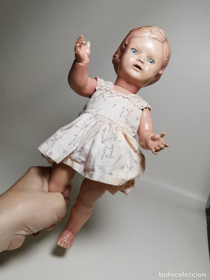 Muñecas Extranjeras: antigua muñeca de plastico años 50 marca kader made in hong kong--32 cm -muy jugada - Foto 7 - 193741127