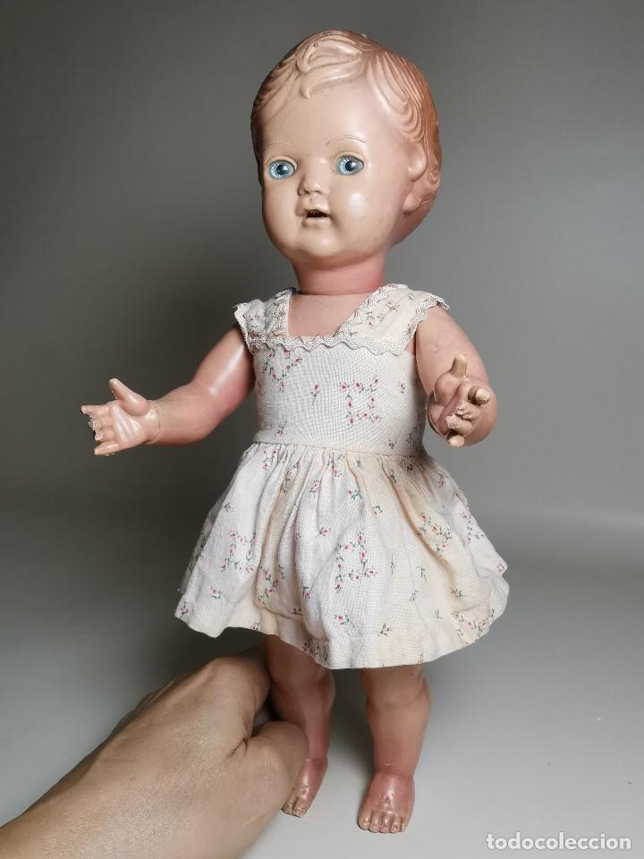 Muñecas Extranjeras: antigua muñeca de plastico años 50 marca kader made in hong kong--32 cm -muy jugada - Foto 37 - 193741127